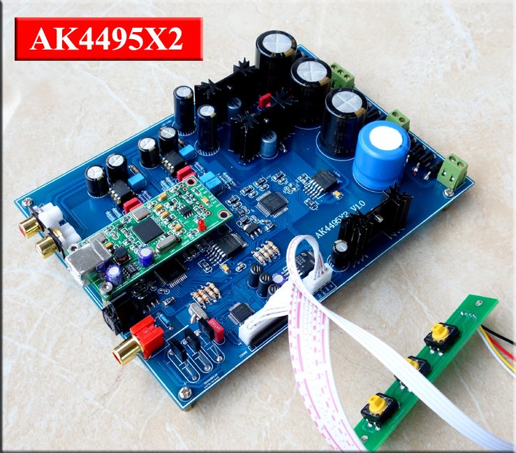 double AK4495 + xmos USB card + AK4118 +<font><b>LT1963</b></font> USB Decoder board 185MMX133MM image