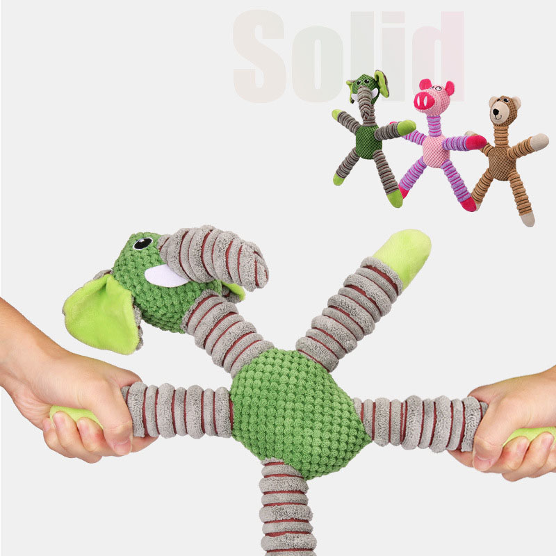 Yooap Large Dog Toys Squeaking Bite Resistance Fleece Chew Toy Pigs, Elephant, Bear Best Selling Pet Supplies