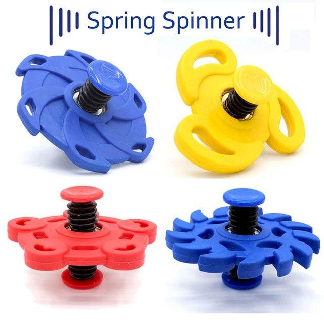 KOCOZO прыгающий Спиннер игрушка ручной Спиннеры прыгать гироскоп спин эластичный отказов Весна палец Спиннер смешные игрушки для детей