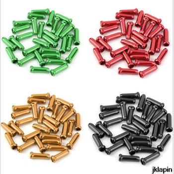 30 szt Rowerowa liniowa rurowa nasadka kablowa tylna skrzynia biegów hamulec motocyklowy drut czapka ze stopu aluminium kolorowy ogon tanie i dobre opinie JKLapin V hamulca (cierne hamulca koła) as picture Kabel zestawy