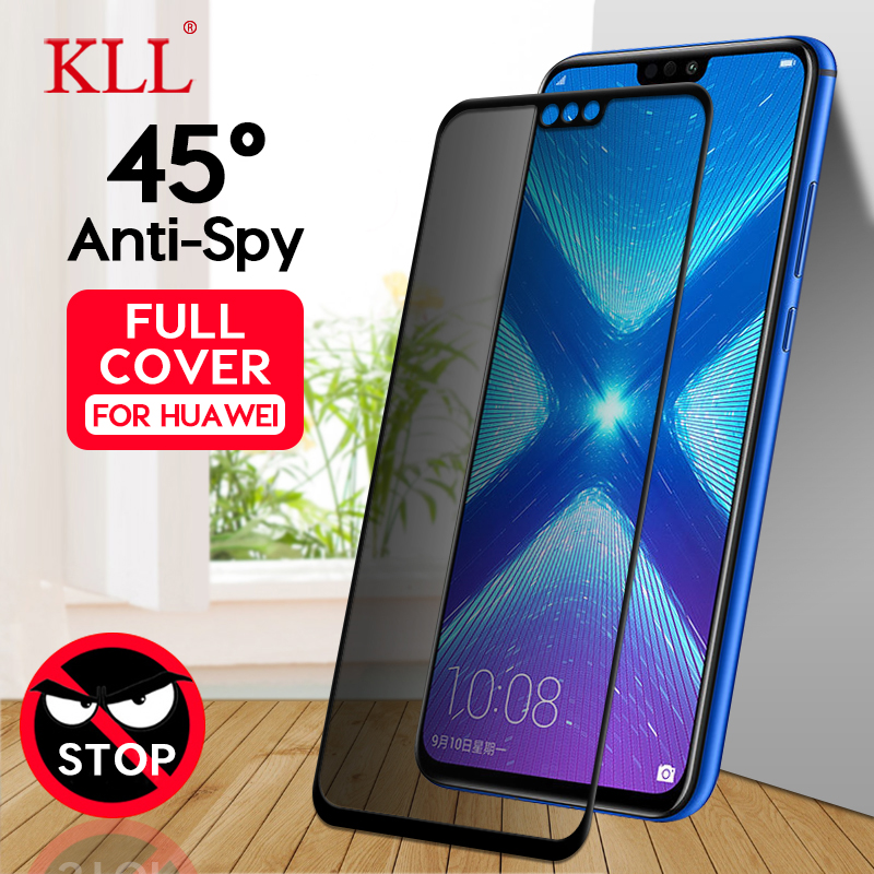 Anti-spy Tempered Glass For Huawei Honor 8X Max 8C 10 9 Magic 2 Anti-Peep Privacy Screen Protector For Huawei Nova 4 4E 3i 3E 2i