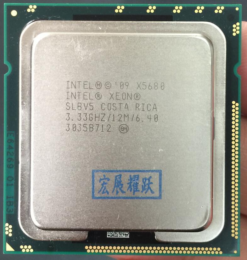 Processeur Intel Xeon X5680 Six Core LGA 1366 serveur CPU 100% fonctionnant correctement PC ordinateur serveur processeur