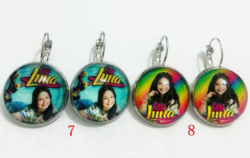 Reliable 8pair New Style High-quality Super Pop Singer Soy Luna Elenco De Soy Luna Silver Clip Earrings Im Moon Glass Earrings Aromatic Character And Agreeable Taste Clip Earrings Earrings