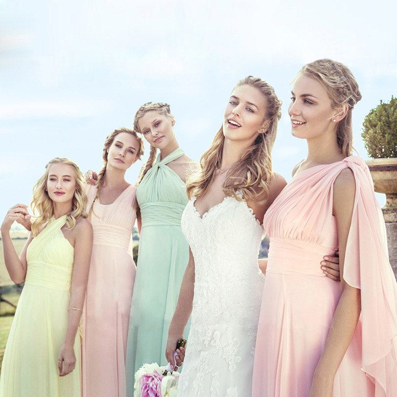 bf8a3347f73 2019 Candy Color Elegent Long Chiffon A-Line Bridesmaid Dresses Vestido da  dama de honra wedding party dress Plus size customize