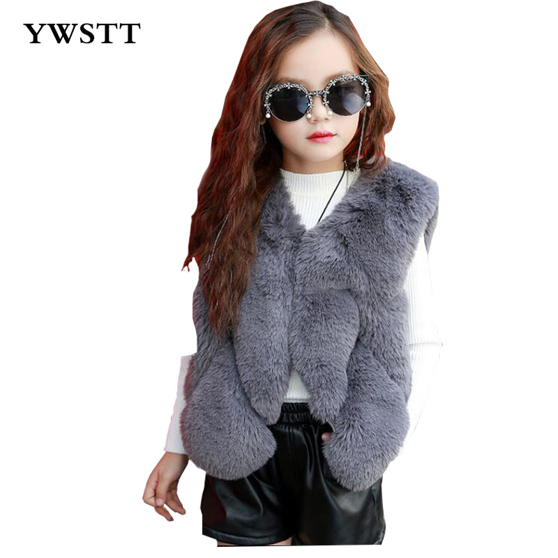 Imitation Fur Vest Children Girls Autumn Winter Warm Thick Fur Vest Kids Parent Kids Fur Coat Vest Waistcoats цена 2017