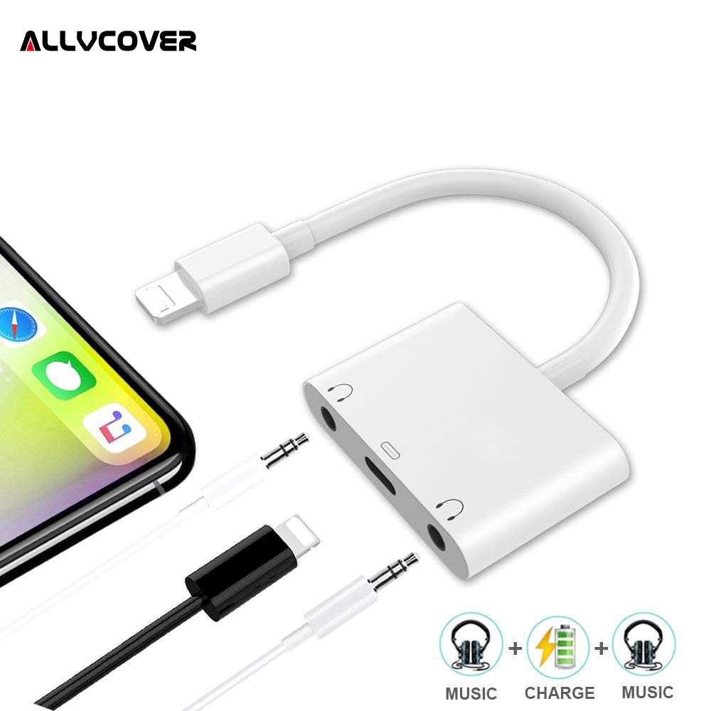 2 in 1 for Lightning Adapter For iPhone 8 7 Plus For