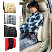 Car Massage Black Waist Cushion Automative Waist Support Pad Back Cushion Electric Waist FG