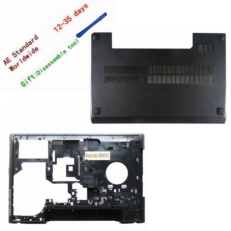 New For Lenovo G500 G505 G510 G590 Bottom Case Cover & laptop case back cover black new original hdd bracket for lenovo g500 g505 g510 series fru 90202693