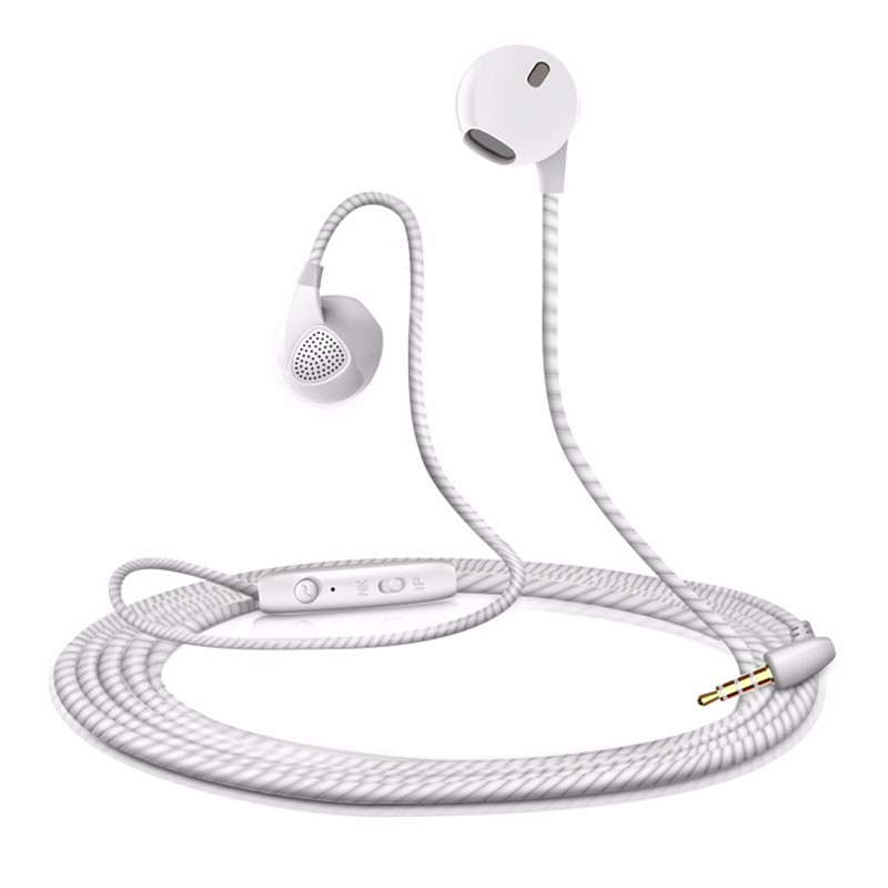 Earphone with Microphone Sports Headset Noise Canceling Stereo Bass for Alcatel One Touch IDOL X plus / 990 / Hero 2 new stereo sports headset ear hook headphone noise canceling earphone with microphone for mobile phone free shipping