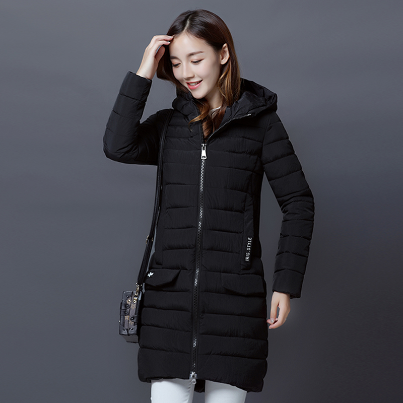 2017 New Winter Jackets Women Slim Warm Wadded Jacket Long Sleeve Hooded Cotton-Padded Coat Female Parkas winter jackets new women slim warm wadded jacket long sleeve down parkas hooded cotton padded big yards m 3xl long coat female