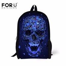 Forudesigns в стиле панк с принтом черепа детские школьные сумки стильный Starlight Мужчины школьный для подростка мальчиков рюкзак дети рюкзак