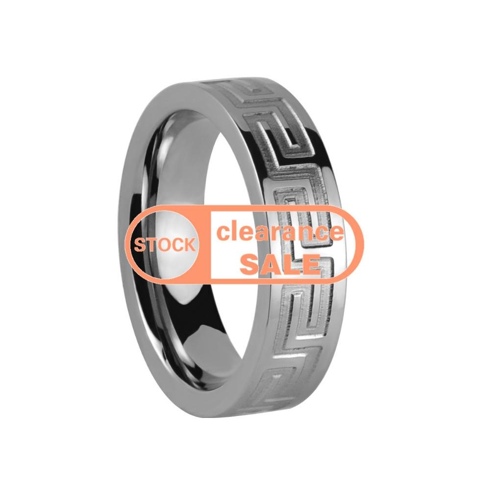 /US size 7.5#/width:6mm /TIRI0058W6P/Girl Gift titanium Ring Brushed fashion Wedding Band