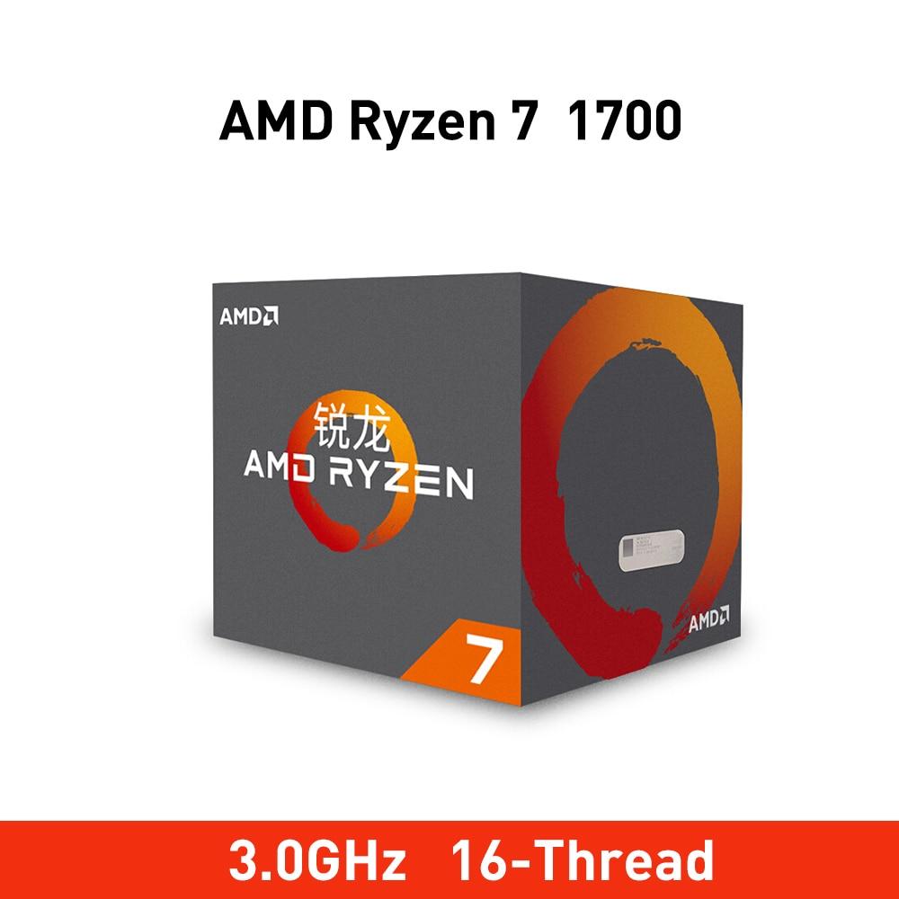New amd ryzen 7 1700 cpu 3 0GHz Eight Core Sixteen Thread 65W TDP processdor Socket