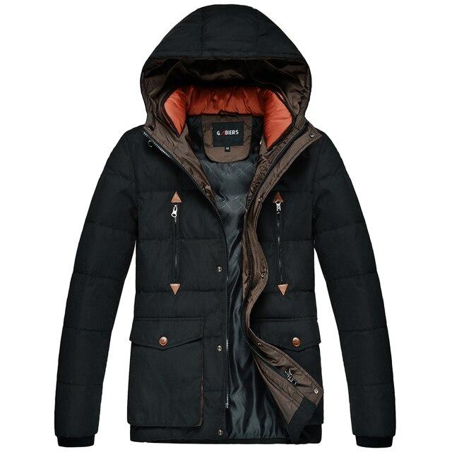 Nuevo invierno Para Hombre de moda pure color fina pluma de pato abajo para mantener caliente grueso abrigo de Ocio/Hombre de alta gama casual chaquetas de la capa