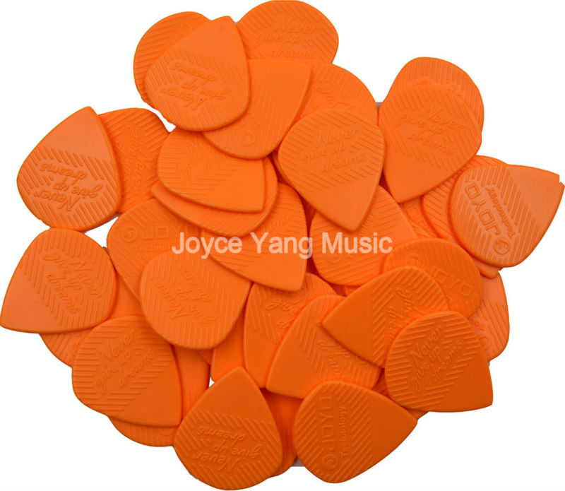 Orange/Black 40pcs Joyo Non-Slip Jazz Guitar Picks Heavy 1.4mm Durable POM Electric Guitar Bass Guitar Picks Plectrums mms02 5 key guitar bass piano hand finger exerciser trainer grip orange black