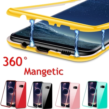 360 Magnetic Adsorption Case for Samsung Note 9 Galaxy s8 S7 edge Magent Cover For Samsung Galaxy s9 s8 plus Note 8 Note9 Cases