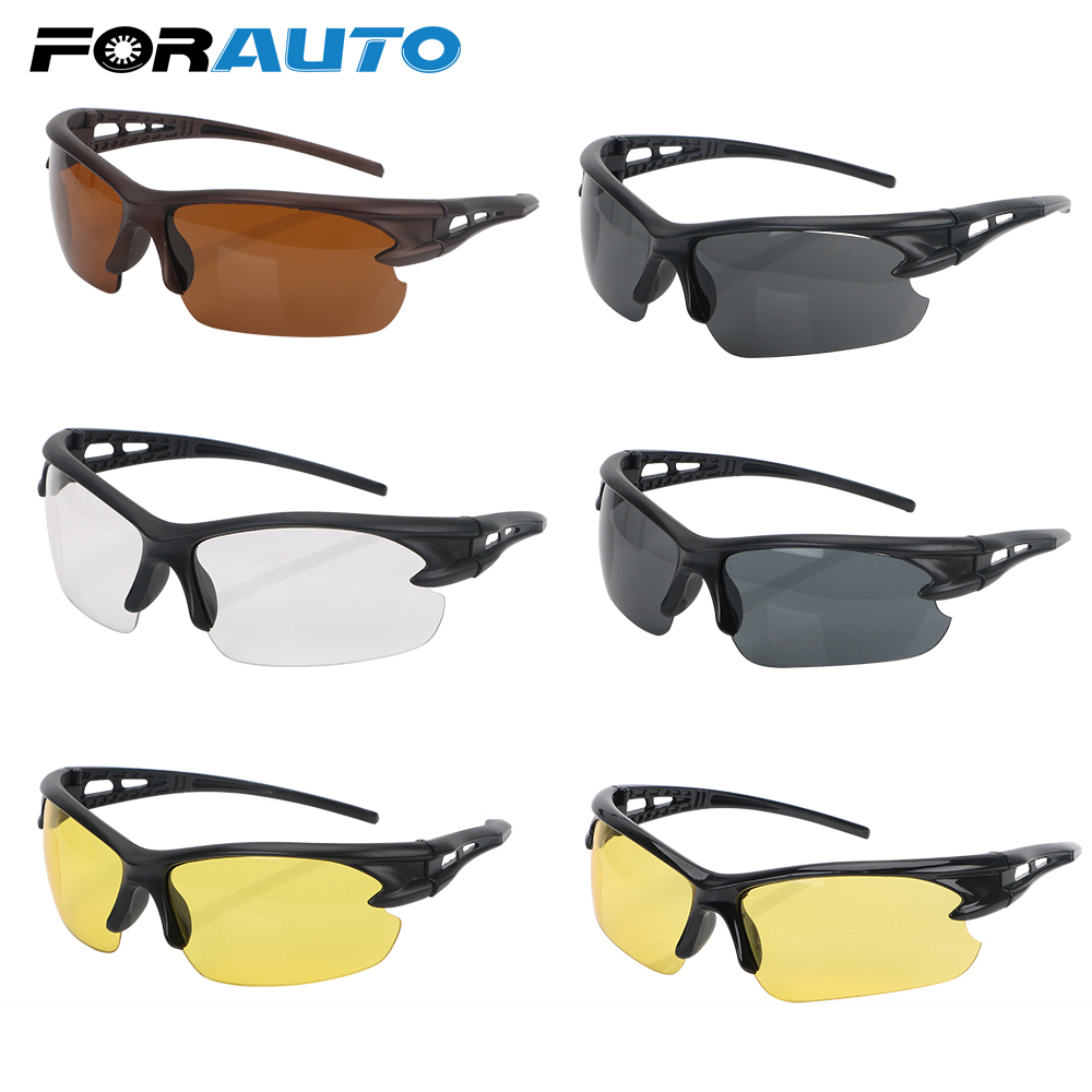 FORAUTO Car Night Vision Glasses Explosion-proof Sunglasses Windproof For Outdoor Riding Insect Proof Plain Glass Spectacles