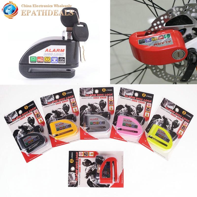 Security Protect Motorbike Motorcycle Alarm Lock Anti Thief Electric Bike Scooter Wheel Disc Brake Zinc Alloy Siren Lock