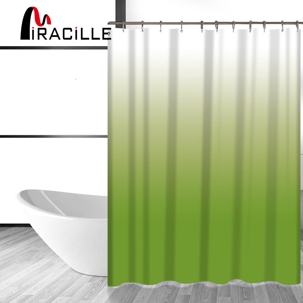 Miracille Cambiamento di Colore di Modo Stampato Durevole Bagno Tende da Doccia Impermeabile Tessuto In Poliestere Bagno Tenda Bagno Decor