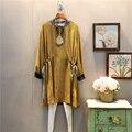 [XITAO] Spring 2017 Korea fashion new female bow knot stripe loose long-sleeved chiffon A-line O-neck dress ABB015