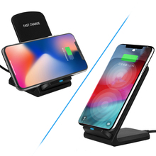 10W Wireless Charger Fast Wireless Charging Dock For Samsung S9 S8 S7 Note 9 8 iPhone XS MAX XR X 8Plus Phone Holder USB Charger 10w wireless charger iron man fast charger metal fold phone stand for samsung s9 s8 iphone xs 8plus x huawei xiaomi