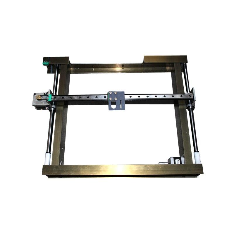 6040 Лазерная гравировка машины двойной axises площадь хивин направляющей X Y этап стол кровать гибкий кабель
