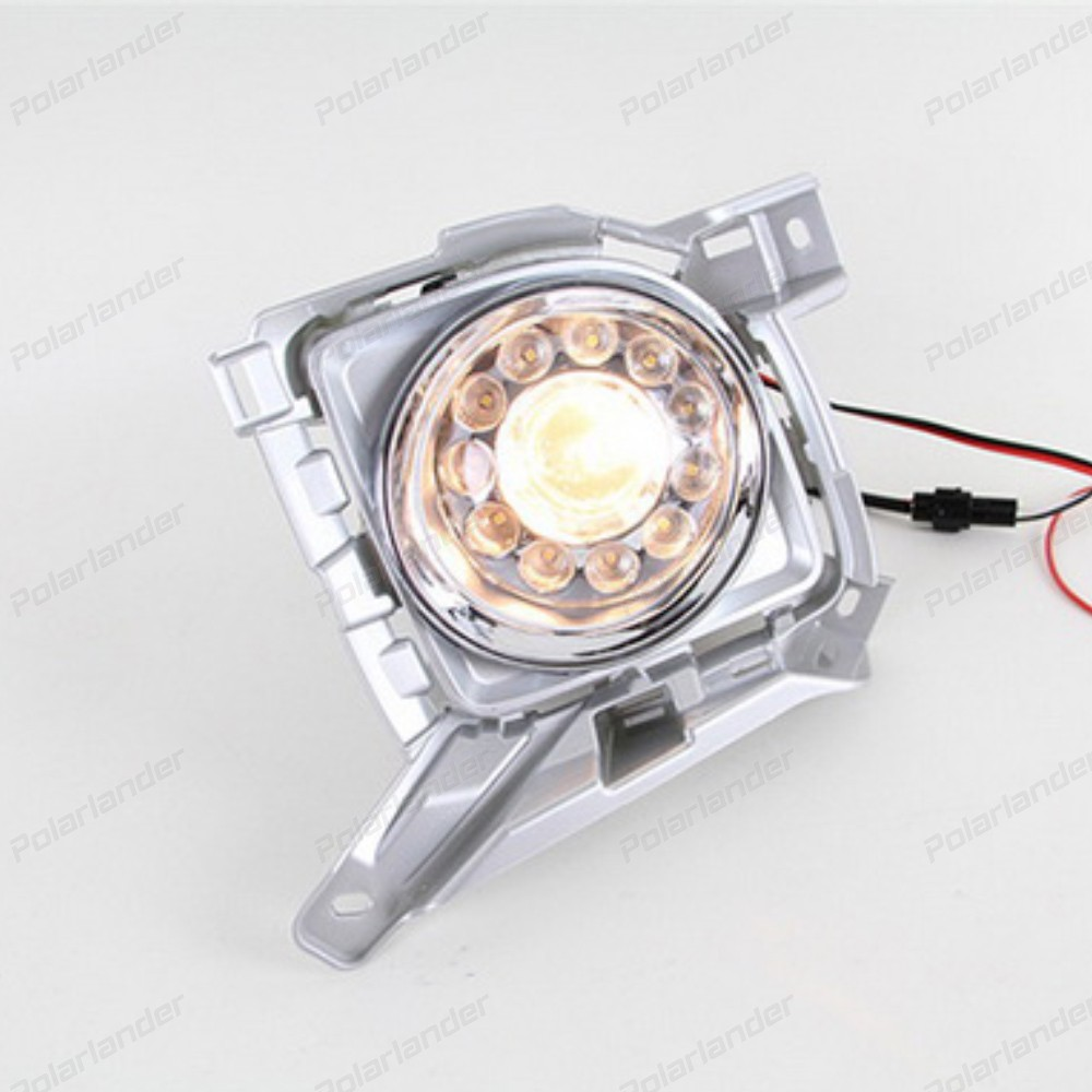 auto part car accessory For T/oyota L/andcruiser F/J200 LC200 with fog cover 2012-2015 daytiime running lights car styling