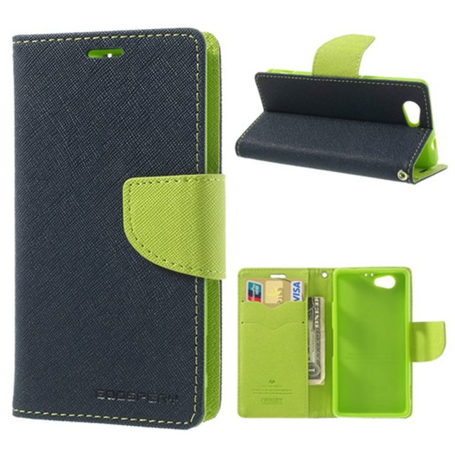 Original Goospery Color Shock Stand Leather Case for Sony Xperia Z1 Compact (M51W) for Xperia Z1 L39h mini D5503 + Free Shipping