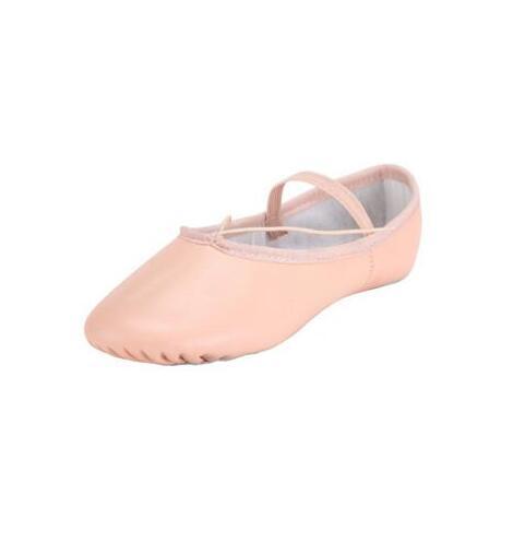 2017 Brand New Pravi Koža Balet Plesne cipele Profesionalne Soft Djevojke / Žene Balet Cipele Full Sole / Split Jedini Pink Veleprodaja