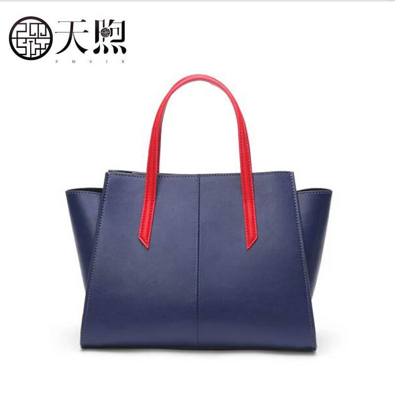 Blue Handtasche Tasche Qualität Mode Stickerei Neue 2018 Marke Atmosphäre Luxus Leder Temperament Pmsix Hohe Schulter ZxqOvnn6