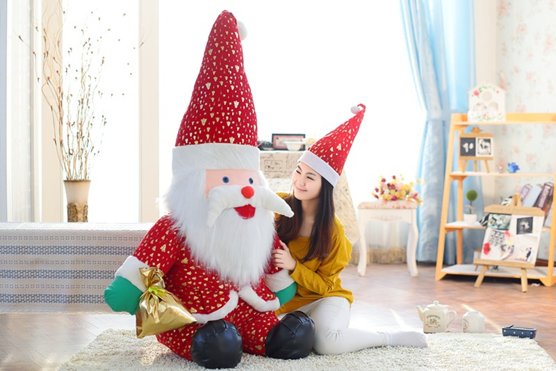 huge plush Santa Claus toy big lovely red hat Santa Claus doll gift about 140cm santa claus