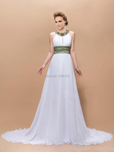 Vestidos De Fiesta 2015 abendkleid elegante weiße chiffon High Neck Kristall Perlen abendkleider Formale Partei-abschlussball-kleider
