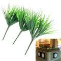 10Pcs/lot Artificial Green Plants 7 Fork Simulation Plastic Fresh Grass for Aquarium Fish Tank Decoration Aquatic Supplies