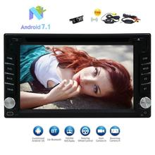 Android 7.1 Car Stereo 2Din CD DVD Player GPS Navigator Support Bluetooth 3G/4G WIFI OBD2 DAB+ CAM-In+Free Wireless Rear Camera