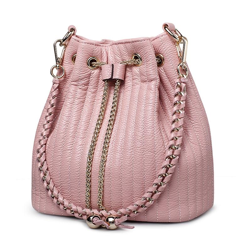 Moda Cubo Caliente bolsos de cuero genuino mujeres ZOOLER hombro - Bolsos - foto 3