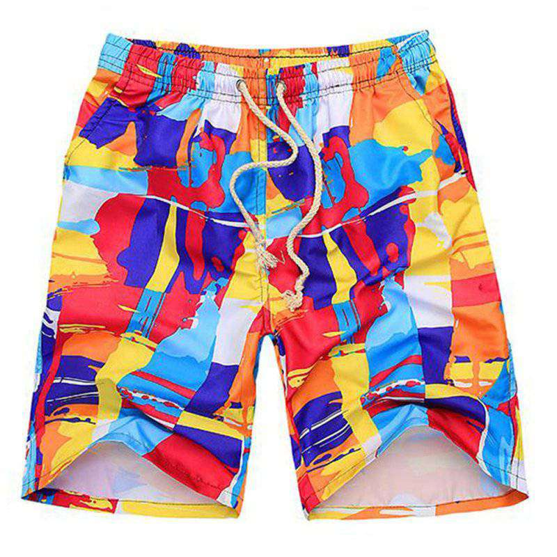 Outdoor Summer Men Beach Printed Breathable Water Sports Brand Surf Sports Boardshorts Board Quick Dry Shorts