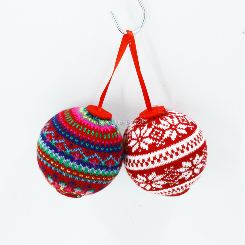 10pcs/lot lovely Big Christmas tree ornaments Knitted Christmas ...