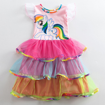 Cute Unicorn Multi Layered Dress
