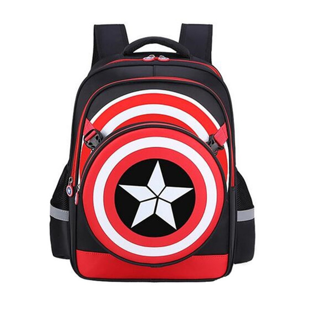 5d1b23e10373 Boys Girls School Backpacks Captain America Cartoon Style Schoolbags for Kids  Children Backpacks Shoulder Bags Mochila Infantil