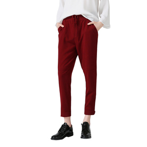 Image 2 - Toyouth Harem Pants Women 2019 Summer Loose Pants Femme Mid Wasit Ankle Length Trousers With Drawstrings