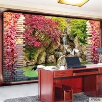 QINGCHUN Custom 3D Fabric Textile Wallcoverings For Walls Cloth Murals Matt Silk For Living Room Forest
