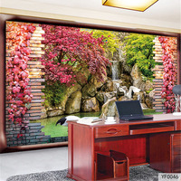 QINGCHUN Custom 3D Fabric Textile Wallcoverings For Walls Cloth Murals Matt Silk For Living Room Forest