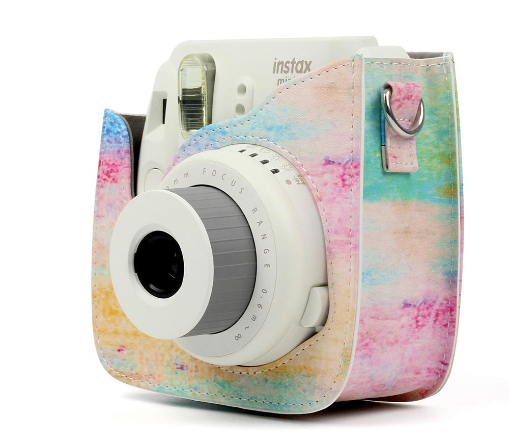 Fujifilm Instax Mini 9 8 Camera Accessory Artist Oil Paint Pu Album Kamera Polaroid 2nan Colorful 1 Bag Shoulder Leather Strap