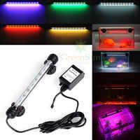 Великобритания AU Plug аквариум погружной Светильник лампы 5050 SMD RGB светодиодный светильник + пульт дистанционного управления