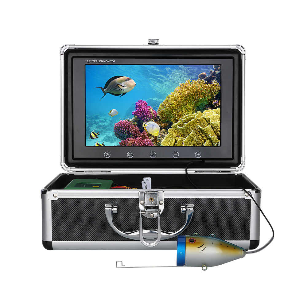 10Inch 1000TVL Fish Finder Underwater Fishing Camera 15M 30M 50M 15pcs LEDs + 15pcs Infrared Lamp For Ice/Sea/River Fishing