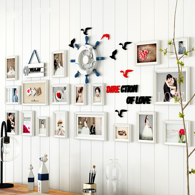 18 pcs/set Photo Frames for Picture Wall,Porta Retrato Moldura ...