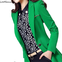 Women Blazers And Jackets 2018 Spring Autumn Fashion Long Sleeve Blaser Coat Female Green Black Ladies Blazer Mujer