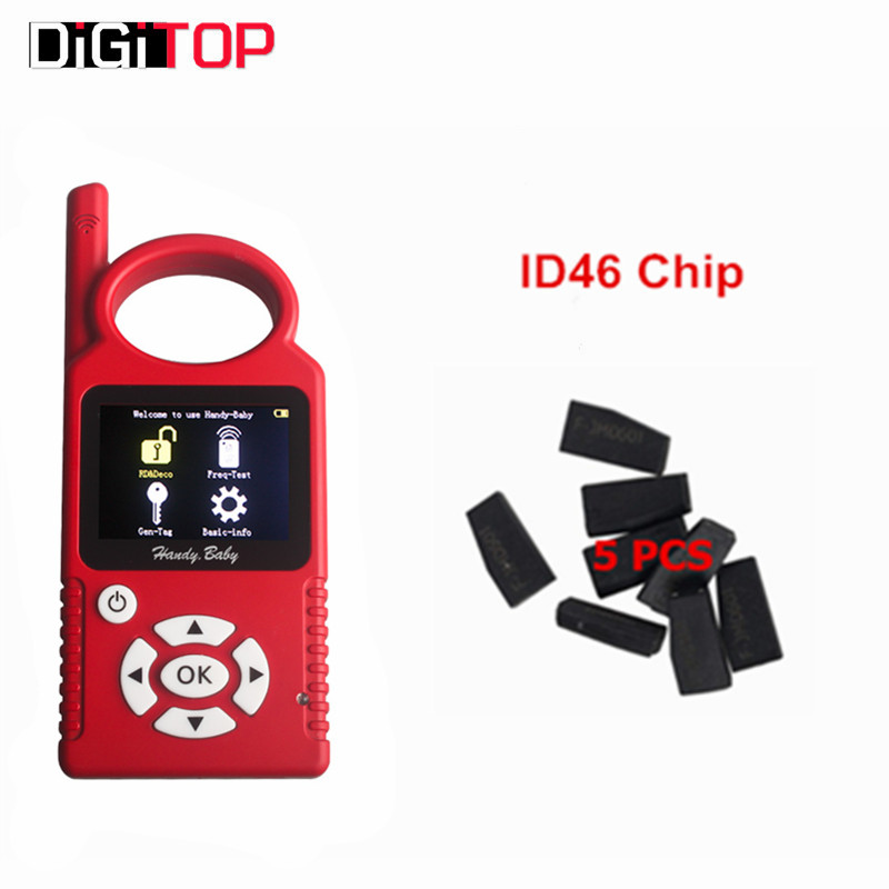 V6.1.0 Handy Baby CBAY Hand-held Car Key Copy Auto Key Programmer for 4D/46/48 Chips CBAY Chip Programmer Plus  ID46 Chip
