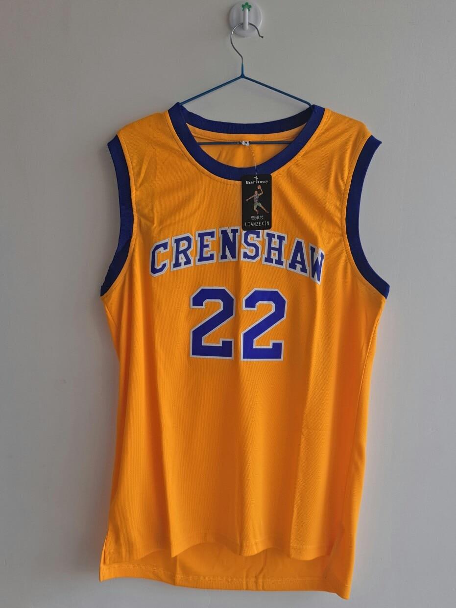 LIANZEXIN McCall NO.22 Jersey Movie Basketball Crenshaw Men Gold Jerseys High School Yellow Basketball Jersey On Sale dr jack on winning basketball
