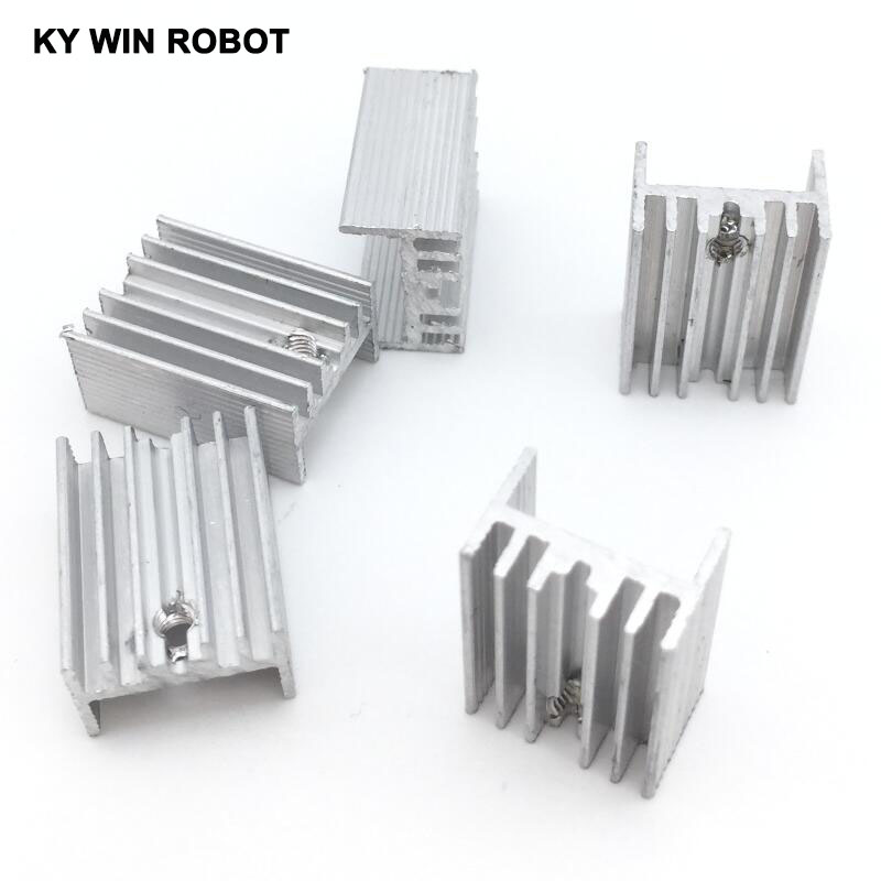 10pcs Free Shipping Aluminium TO-220 Heatsink TO 220 Heat Sink Transistor Radiator TO220 Cooler Cooling 21*15*10MM
